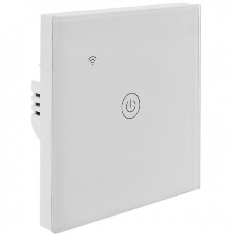 Interruptor inteligente táctil en color blanco compatible con Google Home, Alexa y IFTTT
