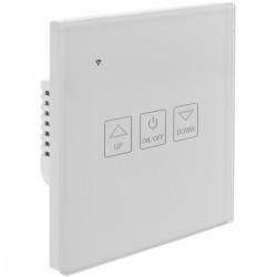 Interruptor inteligente táctil regulable en color blanco compatible con Google Home, Alexa y IFTTT