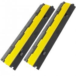Pasacables de suelo 2 vías 98 cm para protección de cables eléctricos 2 pack