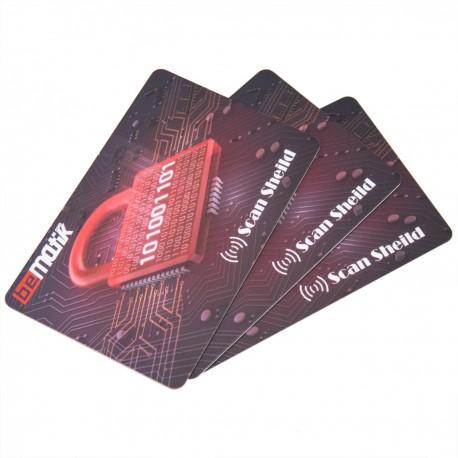 Tarjeta de seguridad Anti-RFID/NFC 3 unidades