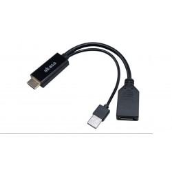 Adaptador HDMI Macho a Displayport Hembra Con USB Macho 4K@60Hz Negro