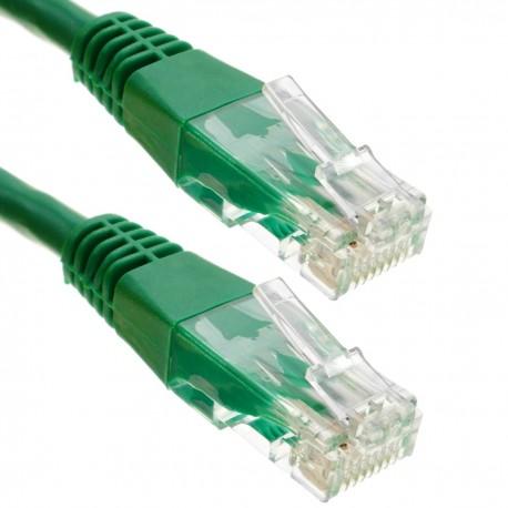 Cable UTP categoría 6 verde 20m