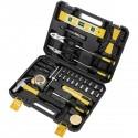 Juego de herramientas básicas de 78 piezas. Destornillador, alicates, martillo, cinta métrica, etc.