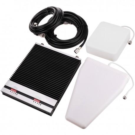 Repetidor amplificador LTE 4G 800MHz 2600MHz 75dB con antenas y cables