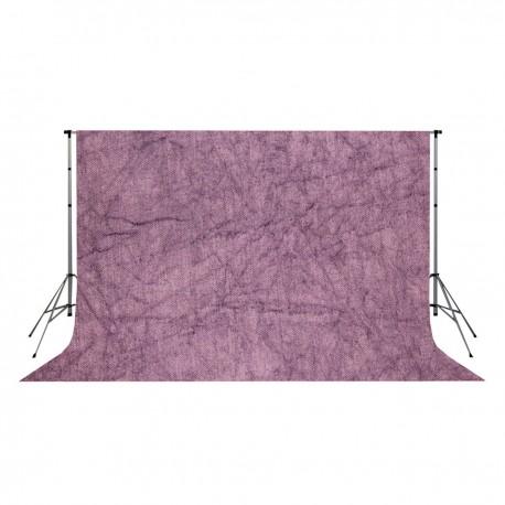 Fondo de estudio arrugado moteado de 3x3m y color púrpura