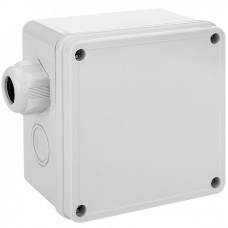 Caja de superficie cuadrada IP66 libre de halógenos LSZH 95x95x60mm