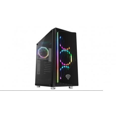 Caja ATX MIdi GENESIS IRID 400 RGB 2x3.0+2x2.0+4ventRGB