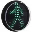 Luz LED para semáforo IP65 200mm de 12-24V peatón verde