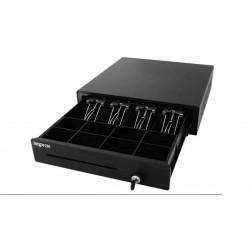 Cajón portamonedas 410x415/100mm 4 billetes/8 moedas RJ11 negro