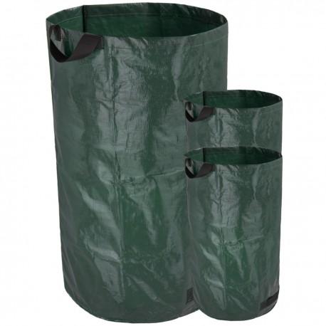 Bolsas de limpieza para jardín con protección UV 240L 3 unidades