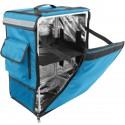 Mochila isotérmica 35 x 49 x 25 cm azul para entrega de pedidos de comida en moto y bicicleta