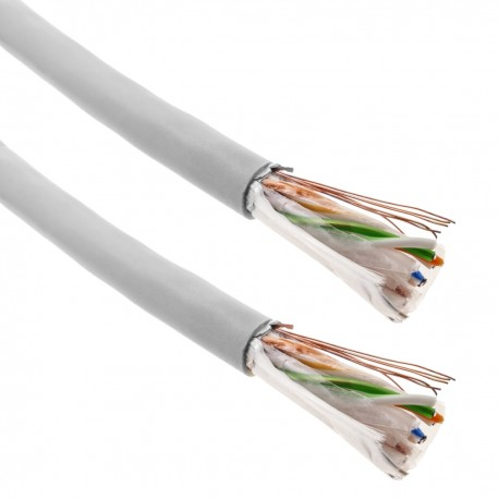 Bobina cable LSHF FTP categoría 6 24AWG rígido gris 100 m