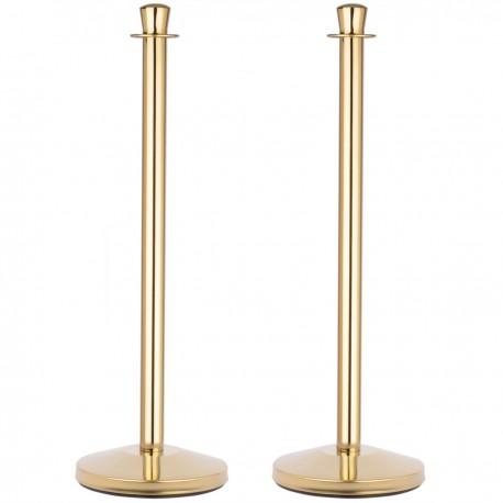 Poste separador 2 unidades dorado para cordón 320 x 50 x 980 mm