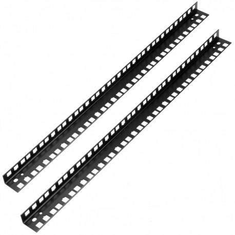 """Bastidor rack 19"""" 12U trasero para armario rack mural negro WY014"""