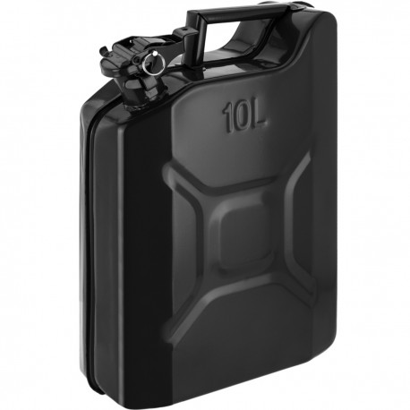 Bidón metálico para gasolina o diésel 10 L negro