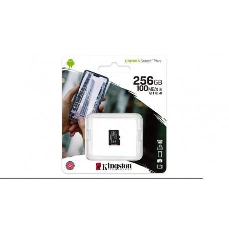 Tarjeta de memoria Kingston Micro SDXC Class 10 R:100MB/s W:85MB/s - 256 GB