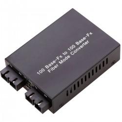 Conversor de fibra óptica de multimodo a monomodo SC 100 Mbps de MM a SM