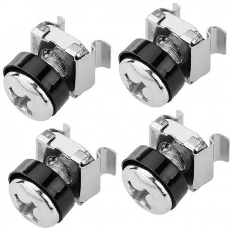 Tornillos M6 para rack-19 4-pack de color plata