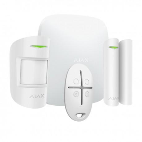 Ajax Hubkit Plus - Kit de alarma profesional Comunicación Wi-Fi, 3G Dual SIM y Ethernet - blanco