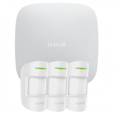 Ajax Hubkit PRO W - Kit de alarma profesional Certificado Grado 2 - blanco