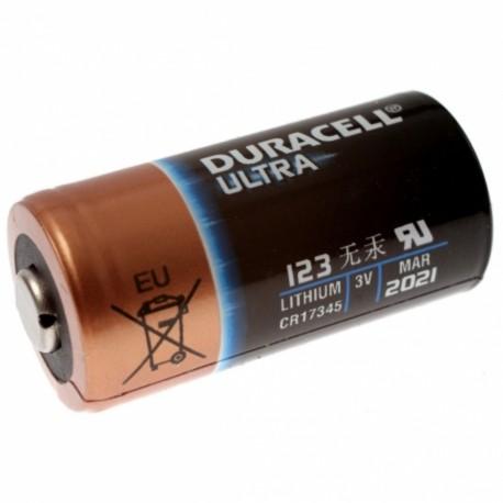 Pila de litio de 3V Duracell CR123A