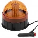 Luz estroboscópica rotativa de emergencia con fijación magnética multimodo 10V ámbar
