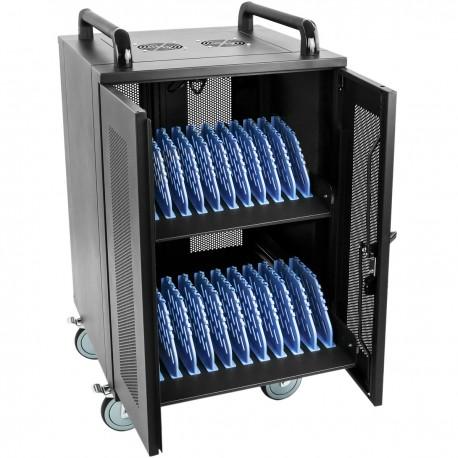 Armario de transporte para 20 ordenador portátil, notebook y tablet negro