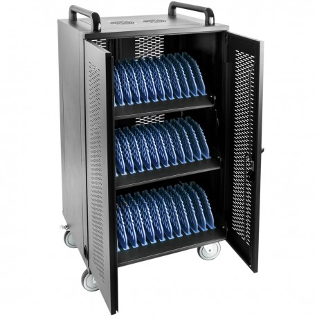 Armario de transporte para 36 ordenador portátil, notebook y tablet negro