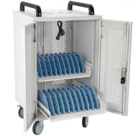 Armario de transporte para 20 ordenador portátil, notebook y tablet blanco