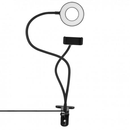 Soporte para móvil con anillo LED circular 4,8 W 6500 K