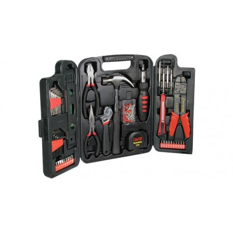 Kit herramientas para reparaciones domésticas de 129 piezas