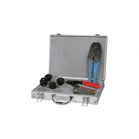 Maletín de herramientas de red coaxial 7 piezas