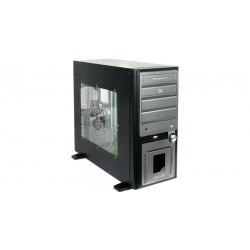 Caja ATX Olimpia Big Tower con LCD LED's lateral acrílico, sin fuente, negro y gris