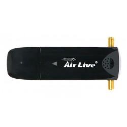 Adaptador USB Airlive Wireless de doble banda 802.11a/b/g/n 300Mbps