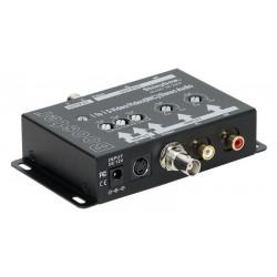 """Amplificador audio y vídeo """"1 a 1"""" S-Vídeo, BNC y RCA"""