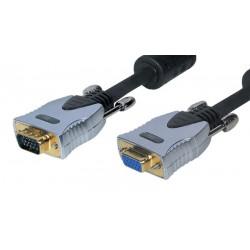 Cable de monitor VGA Gold 15P M/H