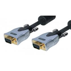 Cable de monitor VGA Gold 15P M/M