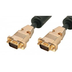 Cable de monitor PnP+Ferrita VGA HQ HD15 M/M