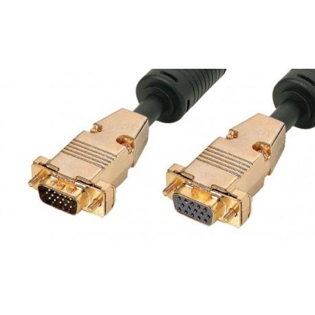 Cable de extensión de monitor PnP+Ferrita VGA HQ HD15 M/H