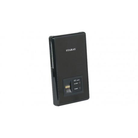"""Caja externa 2.5"""" SATA USB 2.0 con lector de huellas digital negra"""
