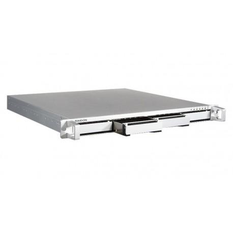"""Caja 19"""" HDD 1U 4 x SATA 3.5"""" 4 x E-SATA aluminio"""