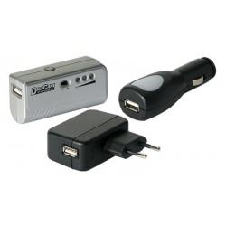 Batería portátil 2400 mAH Li-Ion Universal con salida USB