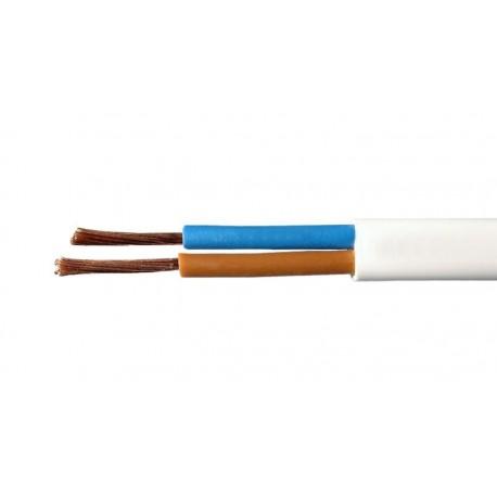 Bobina de cable eléctrico plano sin tierra 2x0.75mm 100m