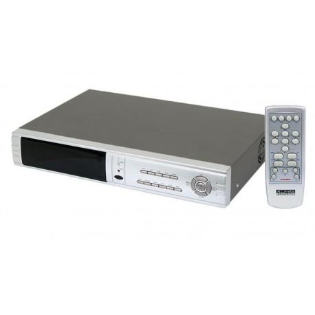 Grabadora digital DVR 4+4 canales PTZ alarma