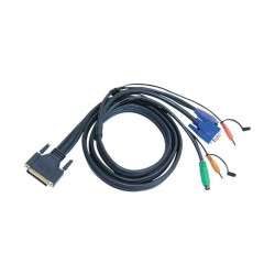 Cable DB25M a VGA M + PS2 M + Audio/Micro