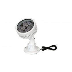 Foco de iluminación IR con soporte, 18 LEDs, 150m