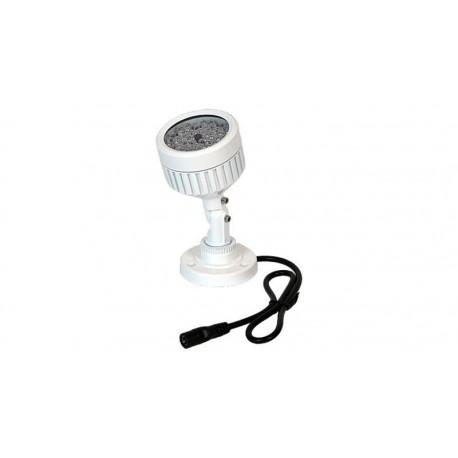 Foco de iluminación IR con soporte 48 LED's, 40m