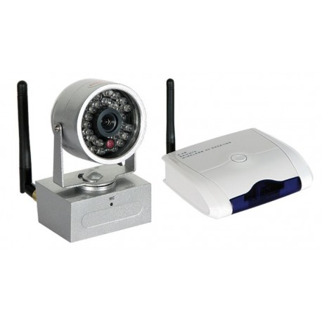 Kit de 4 cámaras y receptor Wireless 2.4GHz con IR 380TVL