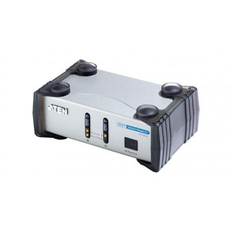 Conmutador DVI + audio con mando IR