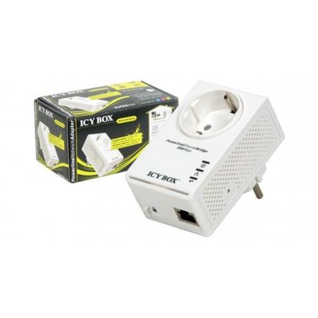 Adaptador Powerline con toma Schuko Ethernet 200Mbps